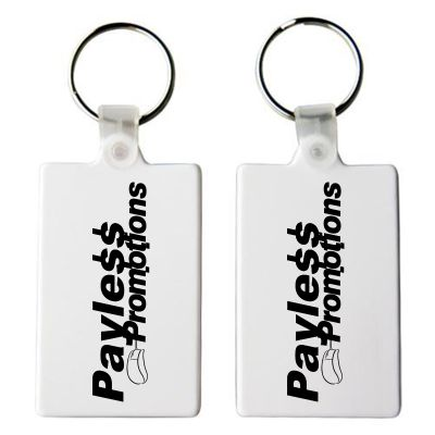 K53 Rectangular Promotional Plastic Key Rings