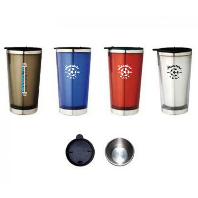 M03 300ml Semi-Transparent Promotional Plastic Travel Mugs With Stainless Steel Inner Wall
