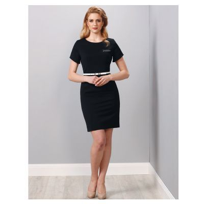 M9282 Ladies Poly/Viscose Branded Business Dresses With Stretch