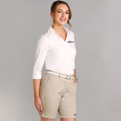 M9461 Ladies Chino Embroidered Corporate Shorts With Stretch - Benchmark Range