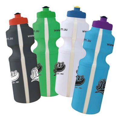 MN750SSVS Sport Pop-Top With View Strip Business Plastic Drink Bottles - 750ml
