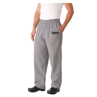 NBCP Small Check Baggy Cafe Chefs Pants