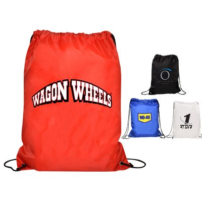 RB1016 Nylon Gym Branded Backpacks With Drawstrings
