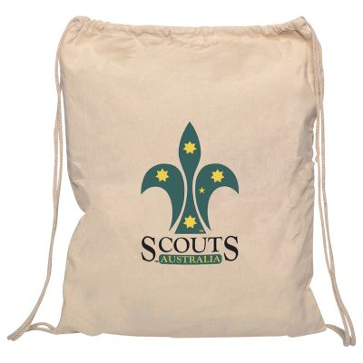 RB1020 Library Promotional Calico Carry Bags With Drawstrings