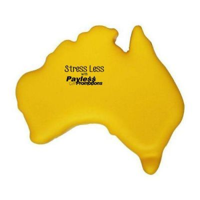 S44 Map Yellow Promotional Travel Stress Balls