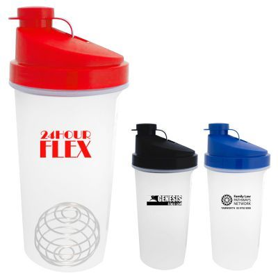 S626 700ml Power Plastic Promotional Protein Shakers With Flip Top Lid