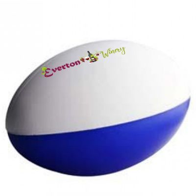 S80 Football Blue & White 2 Panels Promotional Sports Stress Balls