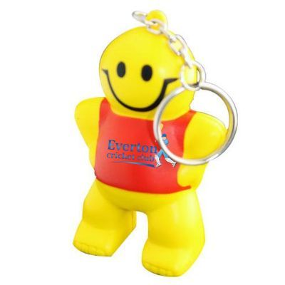 S82 Little Man Keyring Printed People Stress Shapes
