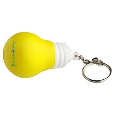 S86 Light Bulb Printed Keyring Stress Shapes