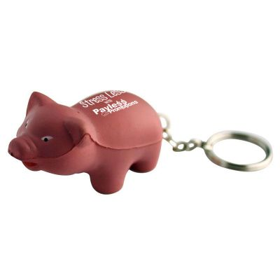 S88 Pig Keyring Personalised Animal Stress Shapes