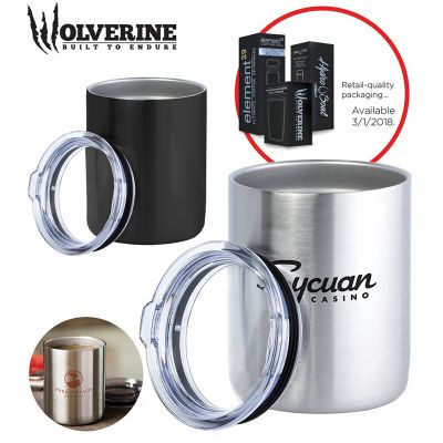 S924 350ml Wolverine Insulated Printed Stainless Steel Travel Cups