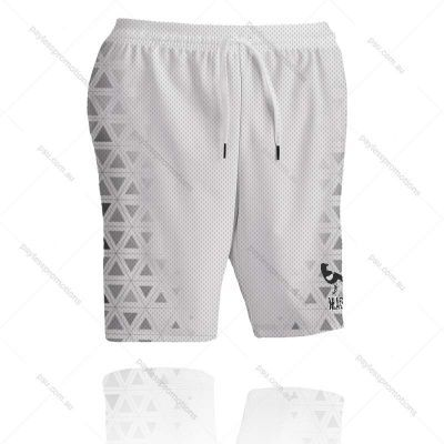 SH2-L Ladies Full-Custom Sublimation Long Workout Shorts (No Pockets) - S Series