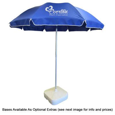 SP110BGP Piha 2.2m Polyester Logo Beach Umbrellas With Aluminium Frame & Fibreglass Ribs