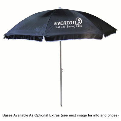 SP90BBN Budget Promotional Business Beach Umbrellas With White Steel Frame & Ribs