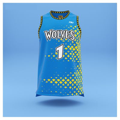 BB-JS-114 Profile Sublimated 2 Panel Basketball Tops