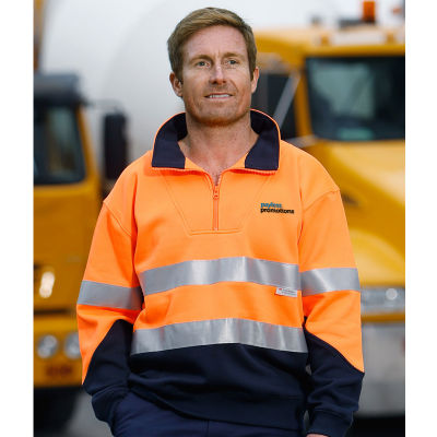 SW14 Day & Night Collared Branded Hi Visibility Jumpers With 3M Reflective Tape