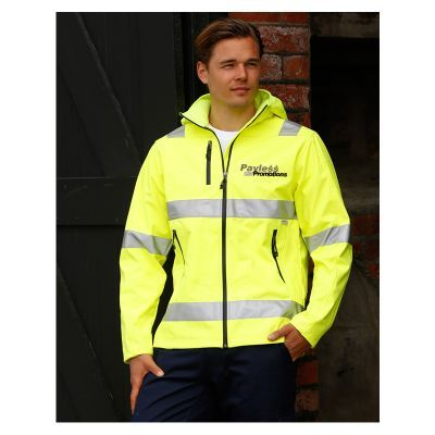 SW30 Heavy Duty Printed Softshell Jackets With 3M Reflective Tape