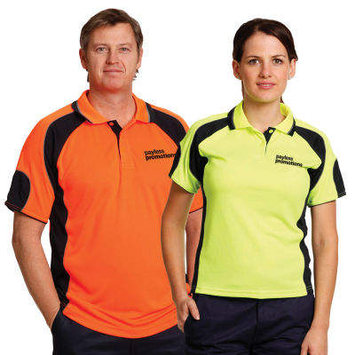 SW61 CoolDry Fashion Personalised Hi Vis Polos