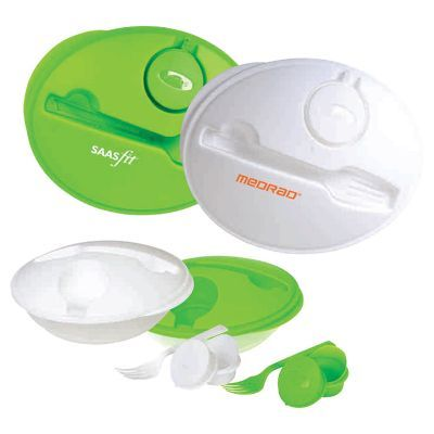 T548 Air Tight Branded Food Containers With Plastic Fork