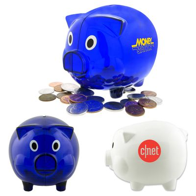 T857 Plastic Piggy Personalised Money Boxes