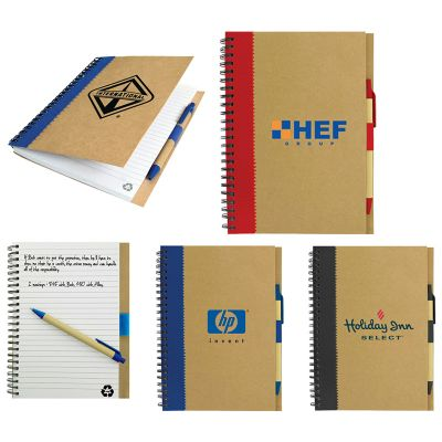 T930 Recycled Cardboard Cover Custom Eco Notepads With Eco Pen