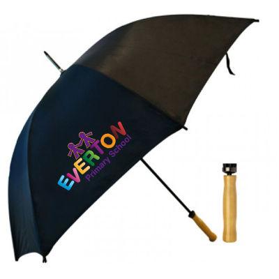 T19 Driver Promotional Golf Umbrellas With Steel Shaft & Fibreglass Ribs