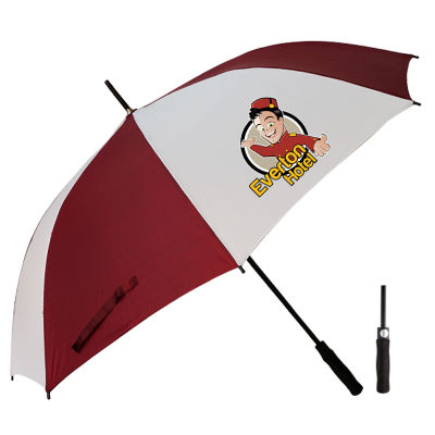 T20 Wedge Custom Golf Umbrellas With Fibreglass Shaft & Ribs