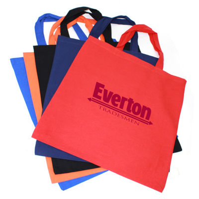 TB020A Coloured Promotional Calico Carry Bags Without Gusset (38cm x 42cm)