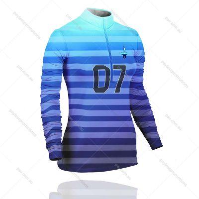 TS7-L+FISH Ladies Full-Custom 1/4 Zip Fishing Shirts - S Series