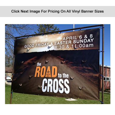 VBE 550 gsm Heavy Duty Banner With Double Sided Print & Wind Holes