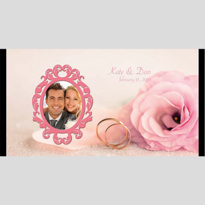 WD1 Roses And Rings Wedding Stubby Holders
