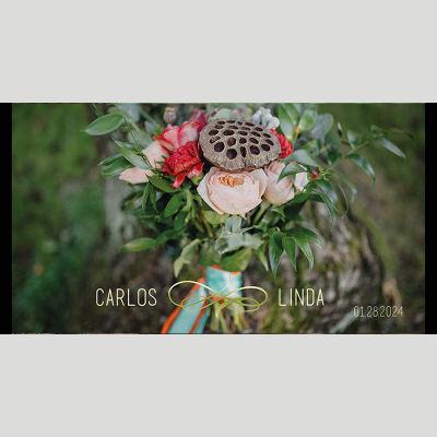 WD131 Flower Bunch Wedding Stubby Holders