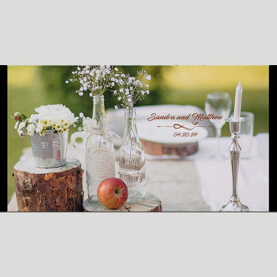 WD148 Lunch Table Wedding Stubby Holders
