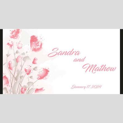 WD17 Roses Wedding Stubby Holders