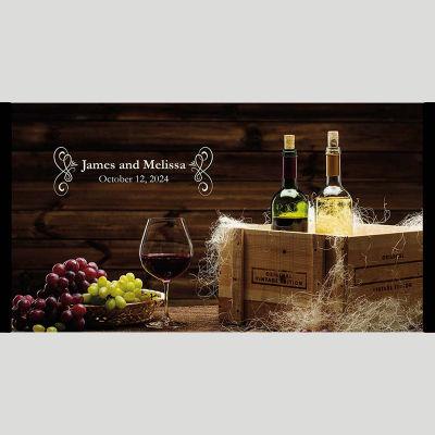 WD177 Wine Bottles Wedding Stubby Holders