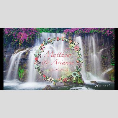 WD19 Waterfall Wedding Stubby Holders