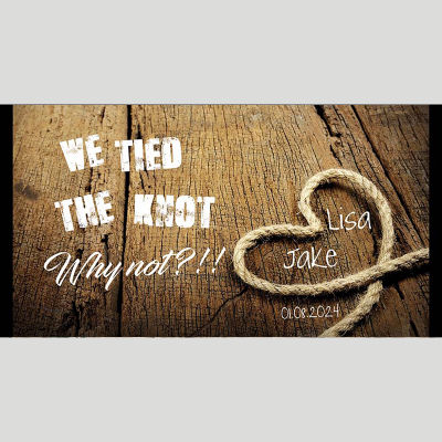 WD209 We Tied The Knot Wedding Stubby Holders