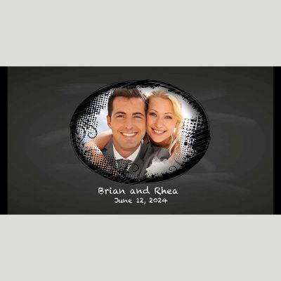 WD213 Oval Photo Frames Wedding Stubby Holders