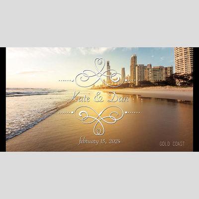 WD23 Gold Coast Wedding Stubby Holders