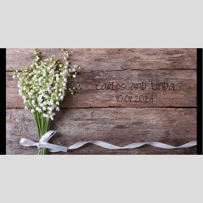 WD3 Flowers And Ribbons Wedding Stubby Holders