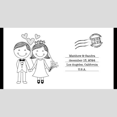 WD37 Married Couple Wedding Stubby Holders