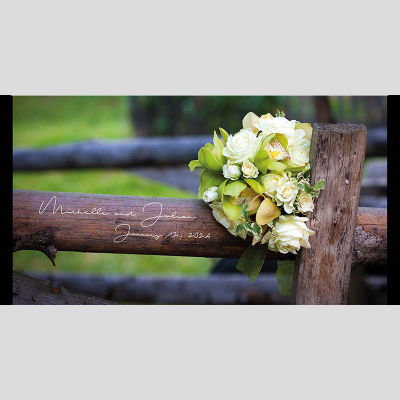 WD45 Wooden Fence Wedding Stubby Holders
