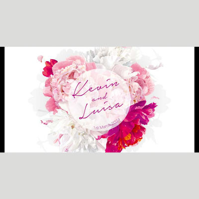 WD69 Flower Circle Wedding Stubby Holders