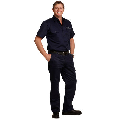 WP03 Cotton Drill Cargo Custom Work Pants With Removable Knee Pads