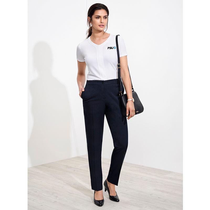 10123 Ladies Ultra Comfort Waist Uniform Corporate Slacks