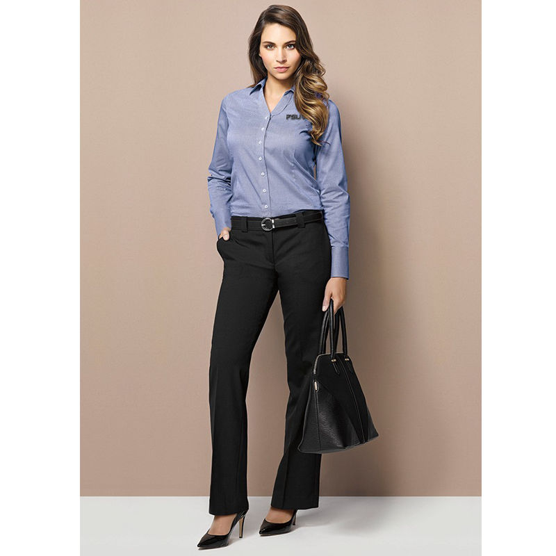 14012 Ladies Hipster Fit Embroidered Corporate Pants