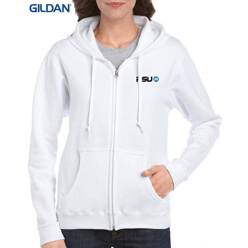 18600FL-WT Ladies Heavy Blend Custom Hoodies - White Only