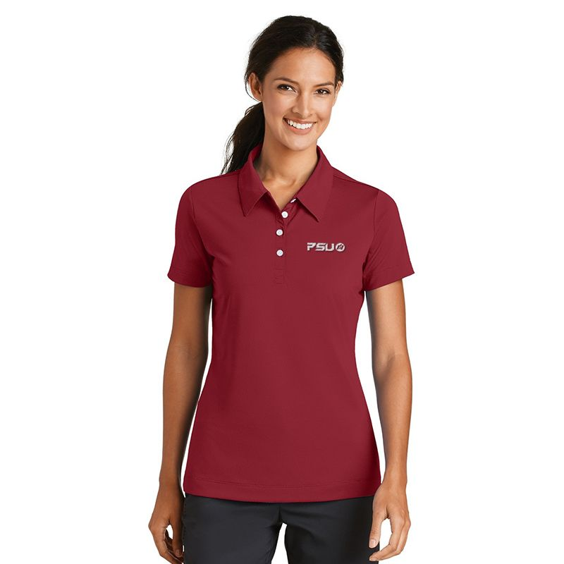 358890 Ladies NIKE GOLF Diamond Textured Printed Polos