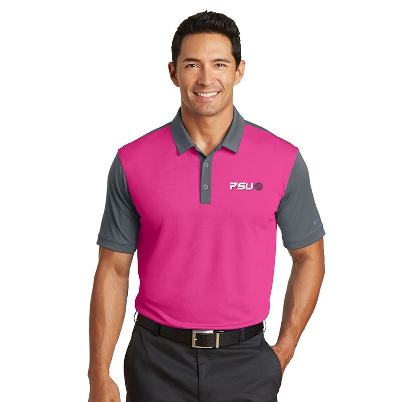 746101 NIKE GOLF Contrast Sleeve Colourblock Uniform Polo Shirts