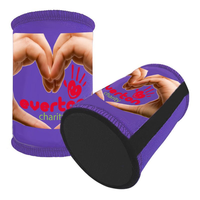 8117 Deluxe Overlocked Full Colour Printed Photo Stubbie Holders With Base - 3 Week Dispatch